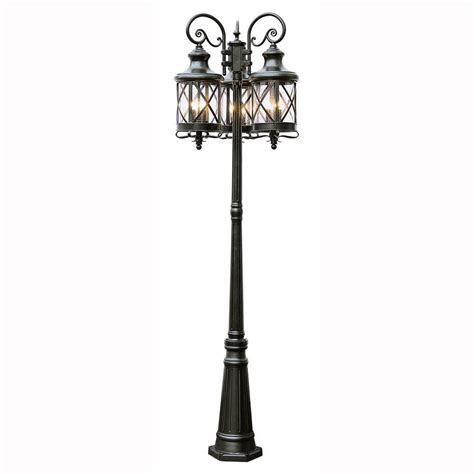 lantern post light outdoor bel air lighting carriage house 6 light outdoor