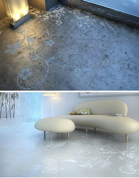 floor design creative concrete floor patterns and prints