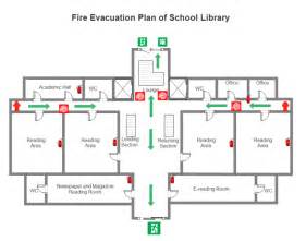 escape route template library evacuation plan free library