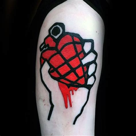 green day tattoos 40 green day tattoos for rock band design ideas