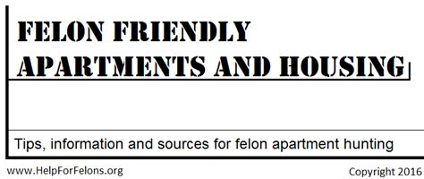 felony friendly housing felon friendly apartments housing for felons