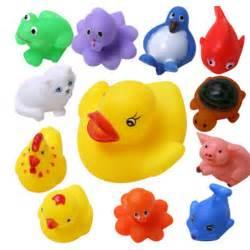13pcs set mixed animals baby bath toys rubber float
