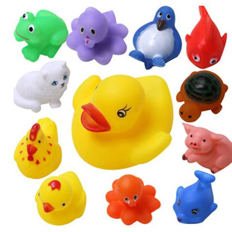 baby bathtub toys 13pcs set mixed animals baby bath toys rubber float
