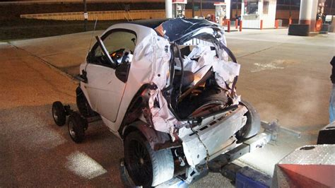 smart car crash woman critical after smart car crash