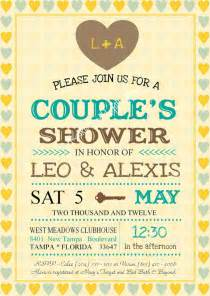 bridal shower invitations couples bridal shower