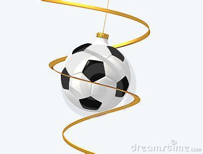 imagenes navidad futbol bola de la navidad del f 250 tbol fotos de archivo imagen