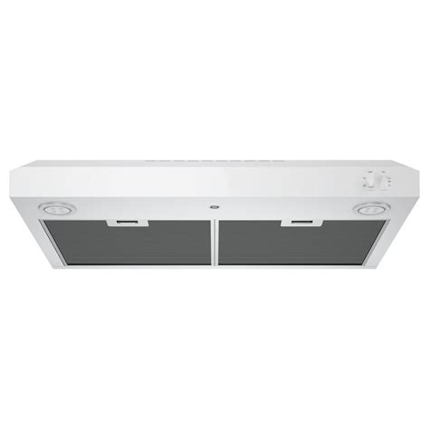 vent a hood 30 under cabinet jvx5305djwwge 30 quot under the cabinet hood white on white