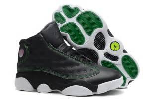 Sale air jordan 13 retro black white green online jordan 11 legend