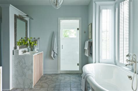 spa like bathroom cottage bathroom sherwin williams olympus white southern living
