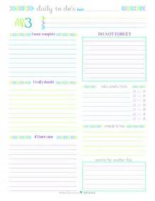 Printable daily to do list for work day 27 x3cb x3eto do list