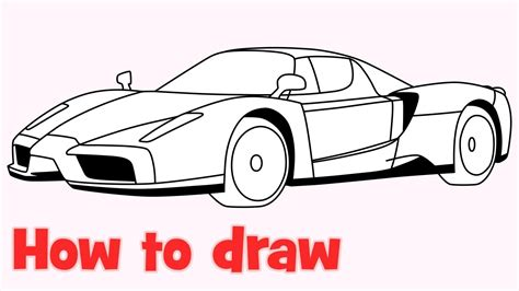 ferrari enzo sketch how to draw a car enzo ferrari step by step youtube