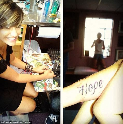 new tattoo feels tight frankie sandford unveils new hope tattoo as the