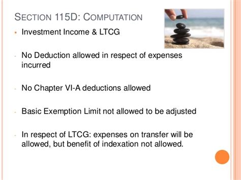 section 115e income tax provisions related to taxation of non resident