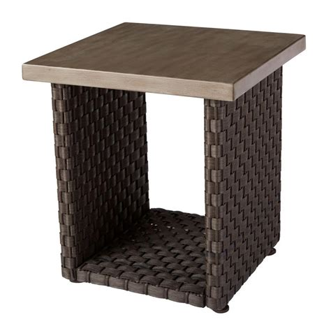 hton bay moreno valley patio side table fws00610 the