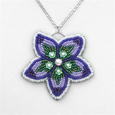 beading gt bead embroidered flower pendant