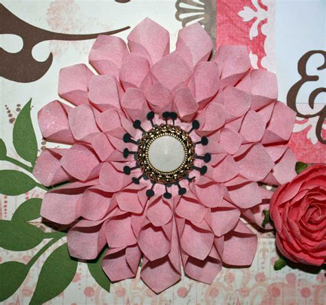 Flower Handmade - ideas for scrapbookers a handmade dahlia for your pages
