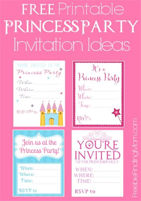 printable birthday invitations princess free printable princess party invitations seriously