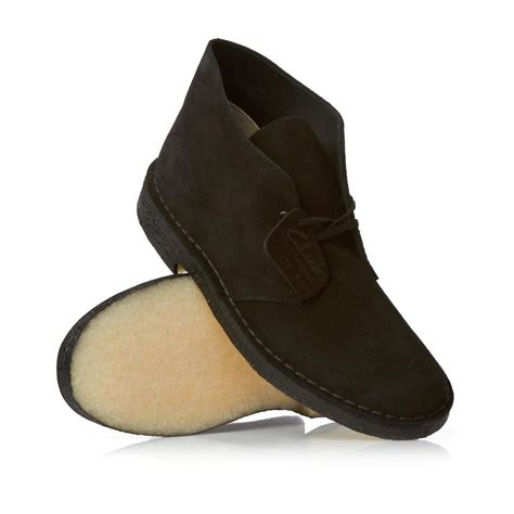 clarks originals desert boots black suede free uk