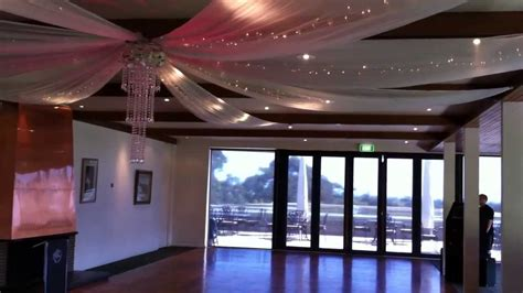 Party & Wedding Design   Ceiling Drapes, Chair Covers, Table Skirting   YouTube