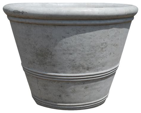 concrete three ring planter modern outdoor pots and