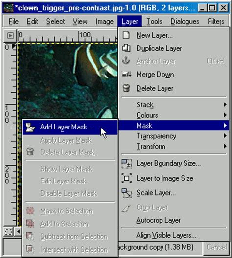 tutorial gimp layer gimp grayscale layer mask tutorial 183 tankedup imaging