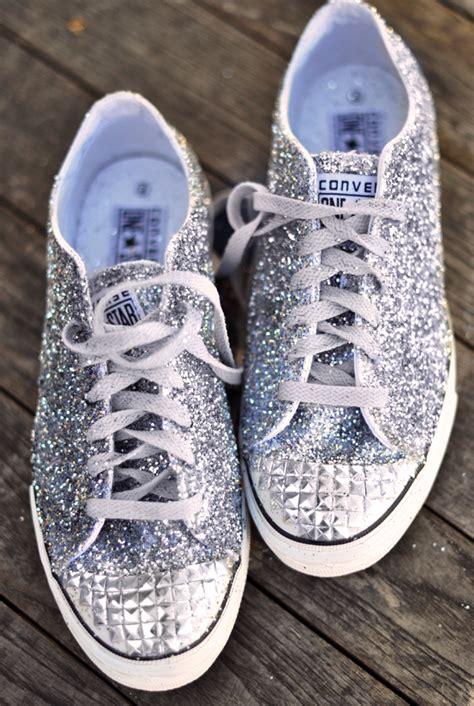glitter shoes diy diy glitter sneakers inspired by miu miu embellished