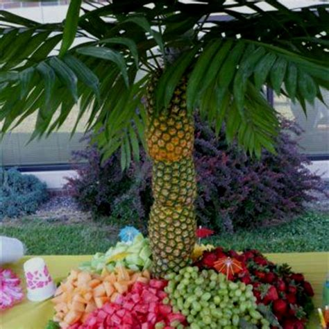 palm tree made of fruit pin by pam on diy