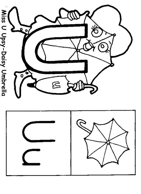 letter u coloring pages preschool how to draw kinder letter u
