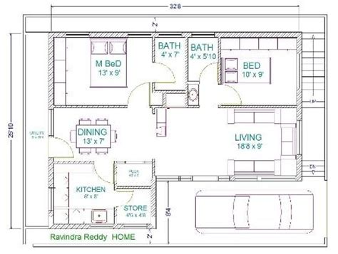 30 X 22 Floor Plans 30x40 House Plans Home Plans 30x40 House Plan Ground Floor