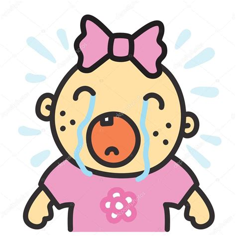 imagenes de niños llorando animadas dibujos animados de ilustraci 243 n de vector de chica aislada