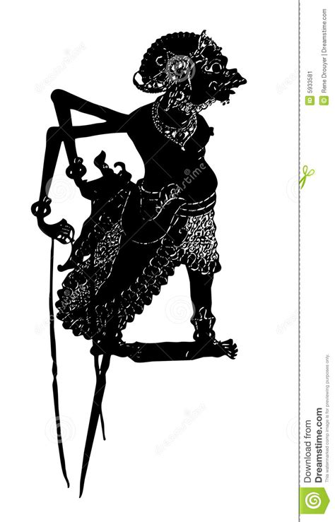 Indonesian Shadow Puppet Stock Image - Image: 5933581