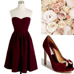 cranberry colored bridesmaid dresses fall winter weddings cranberry burgundy bridesmaid