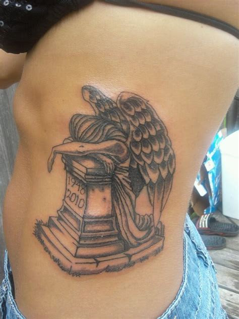 tattoo angel of grief this is a tattoo called angel of grief this has my dad s