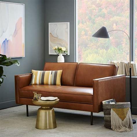 elm axel sofa axel leather sofa elm