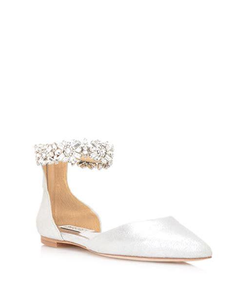 Flat Bridal Shoes by Bridal Flat Shoes For 2018 Arabia Weddings