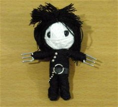 Nola Voodoo Handmade String Dolls - edward scissorhands string doll voodoo doll keychain by