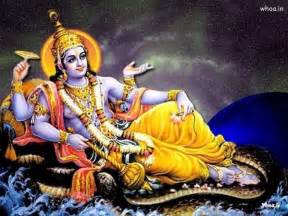 Lord vishnu with sheshnag hd wallpaper