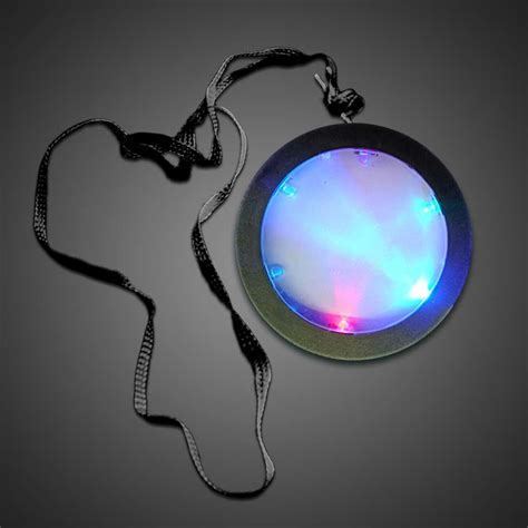 glow medallion necklace