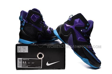 cheap nike lebron 13 black pueple blue size 8 12
