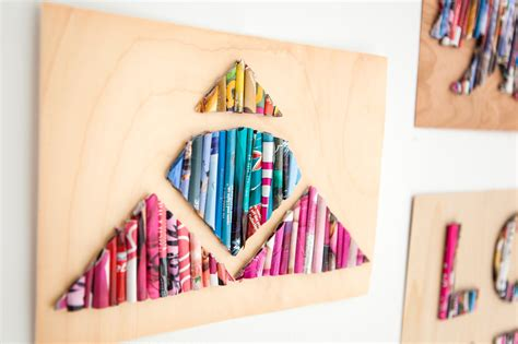 Word Blocks Home Decor Tips To Upcycle Old Magazines To Wall Art Top Tips Feed