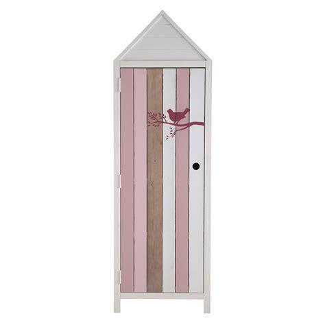 guardaroba bambini guardaroba cabina da spiaggia bianco e rosa in legno per