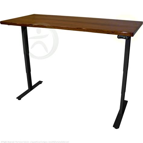 Mesquite Desk by Uplift 920 Mesquite Wood Electric Sit Stand No Crossbar Desk