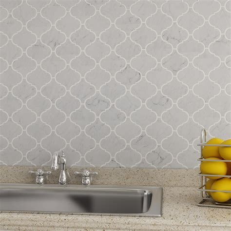 carrara marble backsplash bianco carrara marble arabesque mosaic tile kitchen