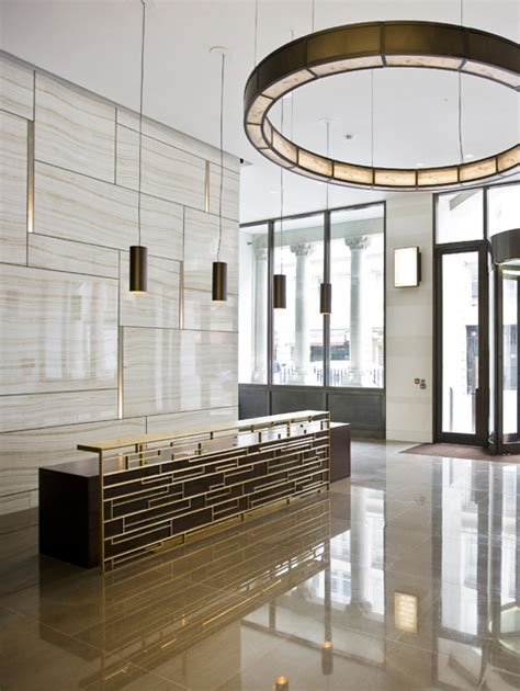 Circular Reception Desk Lobby by Circular Feature Lighting For Reception Are Lse Lighting