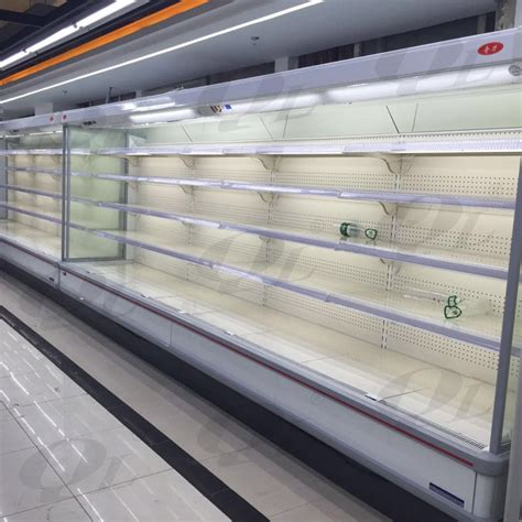 freezer air curtain vertical open display refrigerator with air curtain