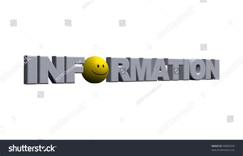 world information the word information with a smiley on white background