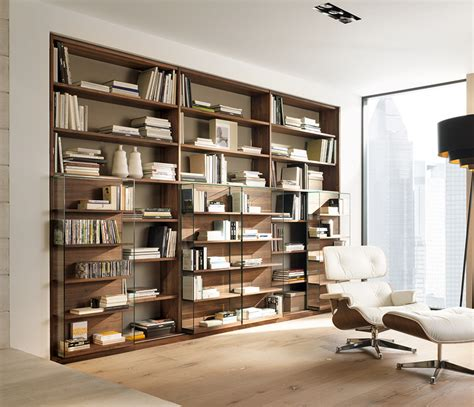 luxury sliding door bookcases cubus team 7 wharfside