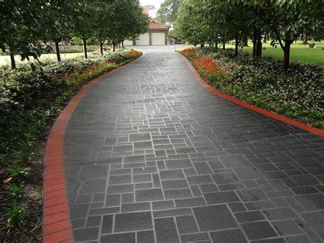 concrete driveway layout design concrete driveway designs photos wizcrete