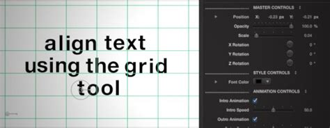 final cut pro grid final cut pro x animated typography profont typeface bold