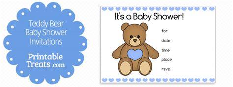 Teddy Baby Shower Invitation Template Free by Printable Teddy Shape Printable Treats